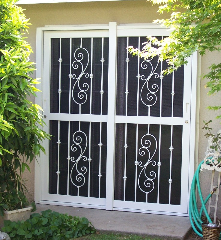 Metal Security Grill Sliding Screen Patio Door < Patio < Doors < House